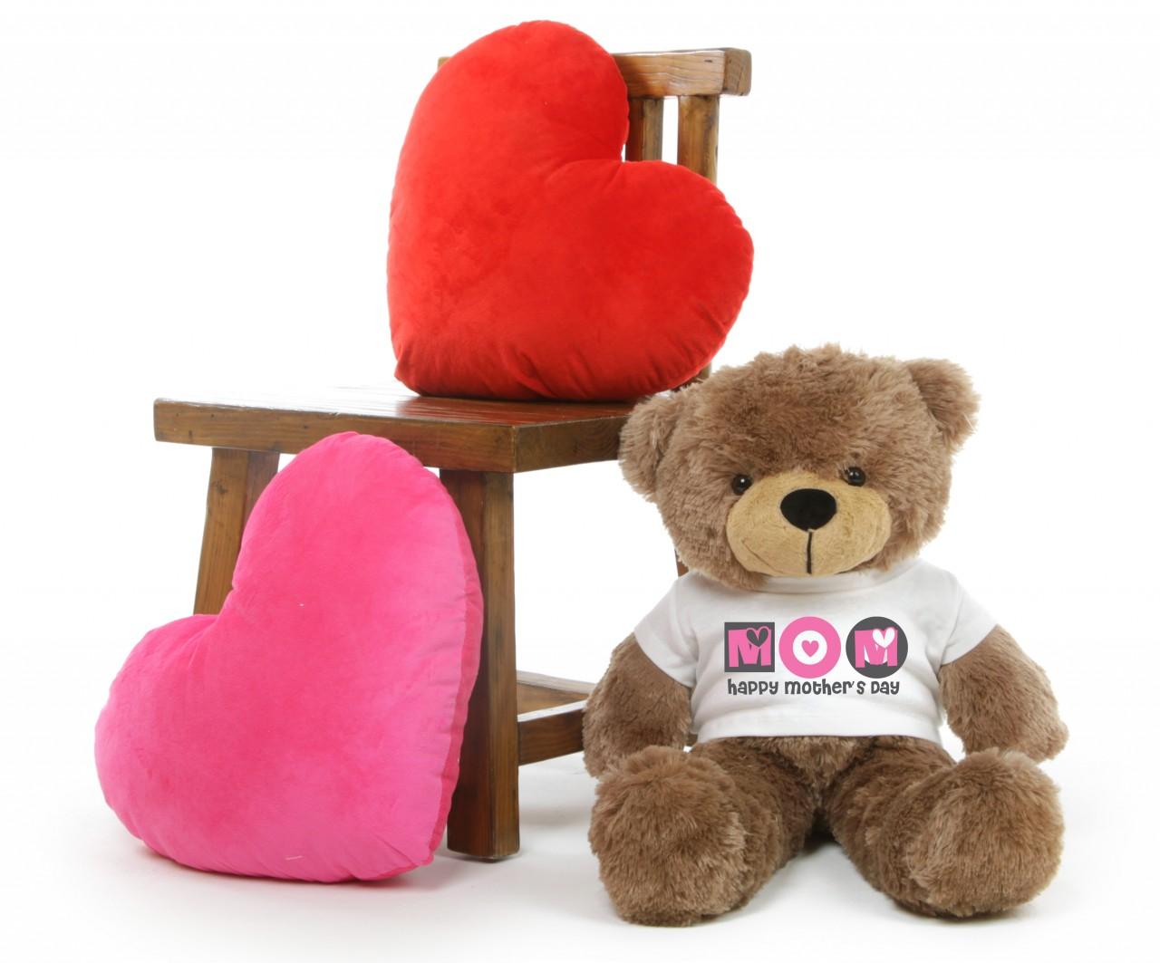 Sunny M Cuddles Mocha Mothers Day Teddy Bear Gift 26in