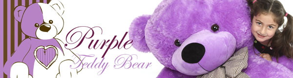 Purple teddy bears