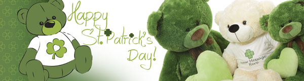 St. Patricks Day teddy bears