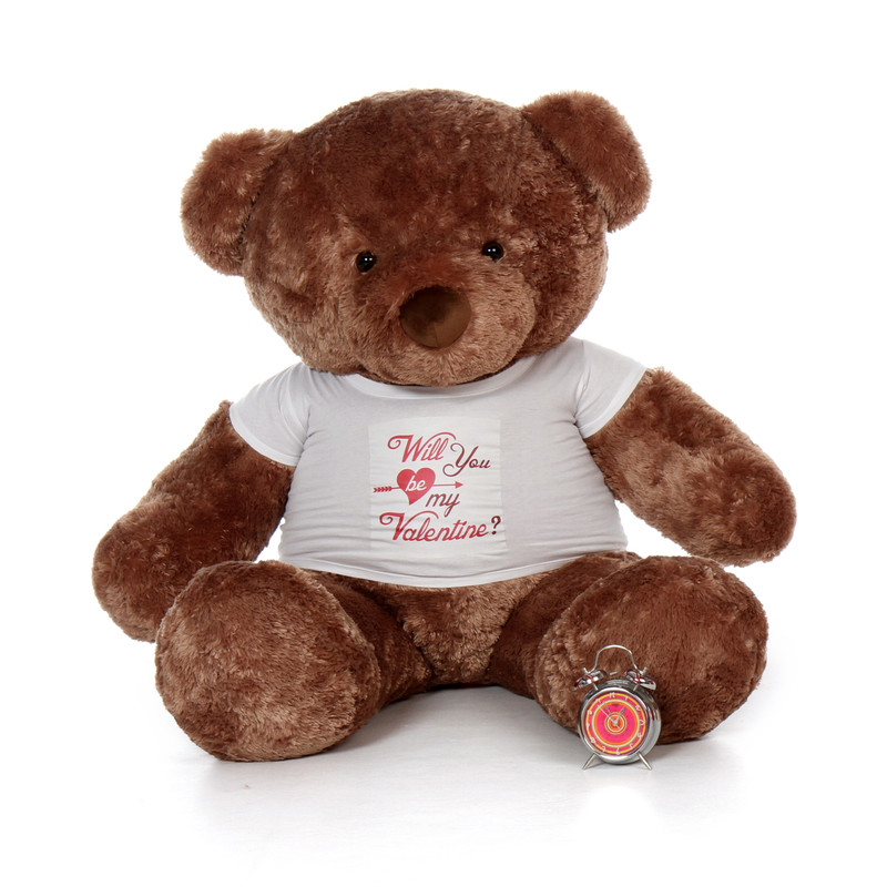 Giant Teddy - 5ft Life Size Mocha Brown Valentine's Day T...