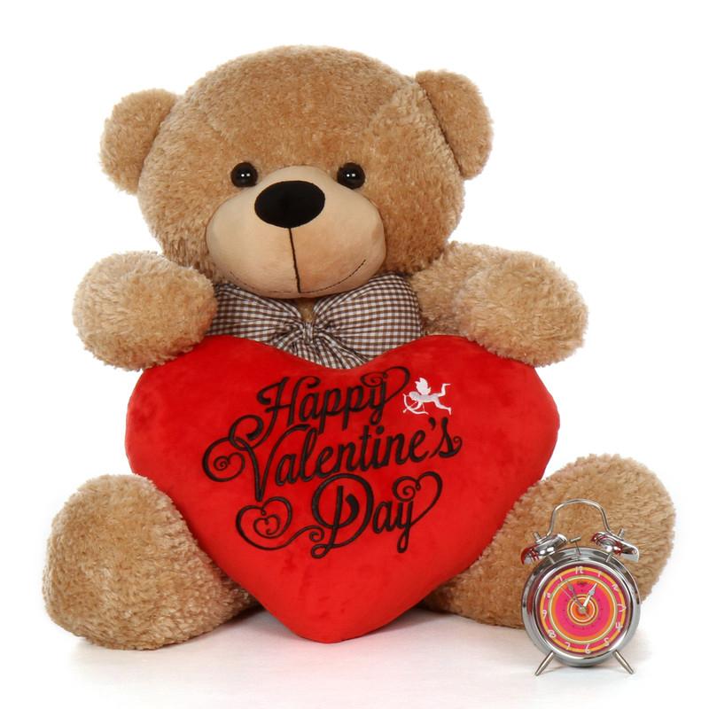 Giant Teddy 3 foot Happy Valentine's Day Teddy Bear Shagg...