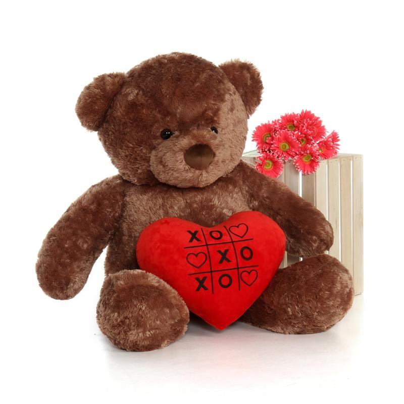 Giant Teddy 48in Big Life Size Valentineu0027s Day Teddy Bear.