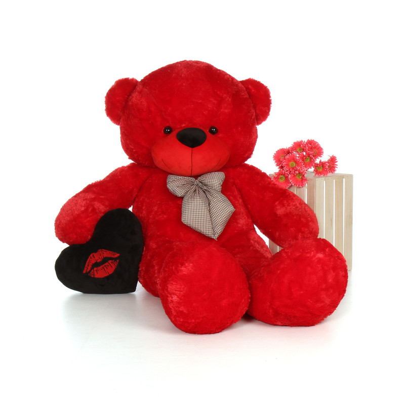 Giant Teddy 72in Huge Life Size Red Valentine's Day Teddy...