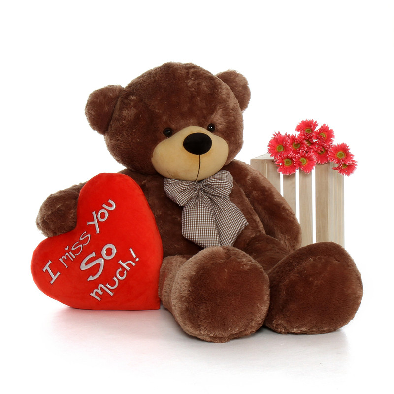 Giant Teddy 60in Huge Life Size Valentineu0027s Day Teddy Bea.
