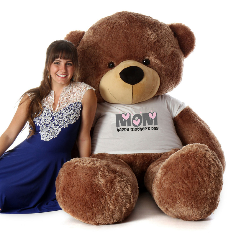 Giant Teddy 6ft Life Size Teddy Bear wearing Happy Mother...