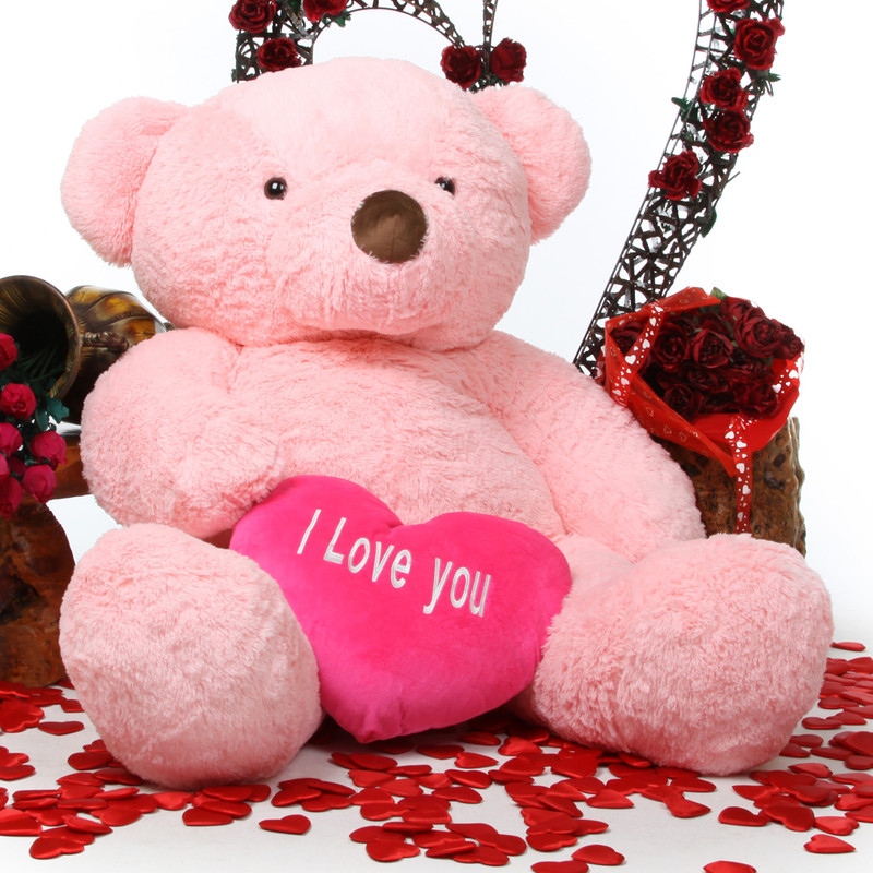 Huge teddy bear pink compare prices at nextag giant teddy gigi love chubs with i love you heart huge pi altavistaventures Images