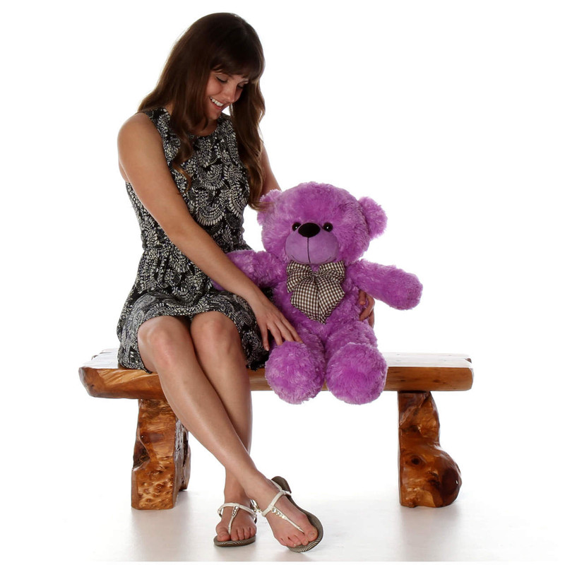 Giant Teddy DeeDee Cuddles Adorable Lilac Plush Teddy Bea...