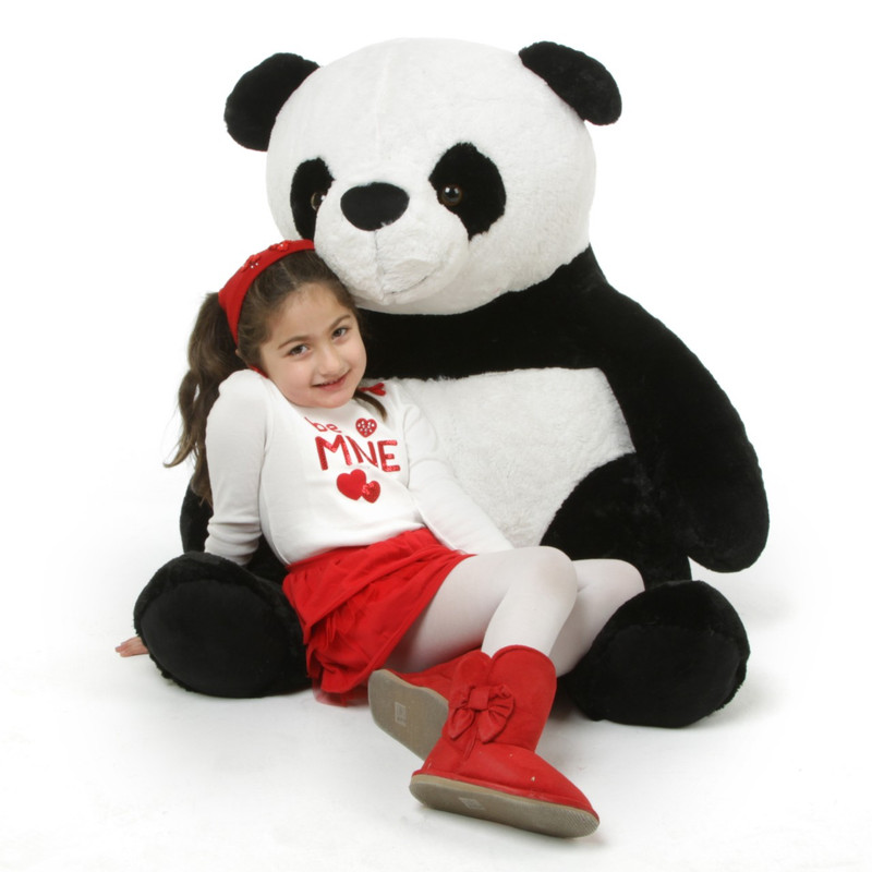 Giant Teddy Papa Xin Giant Black and White Stuffed Huge P...