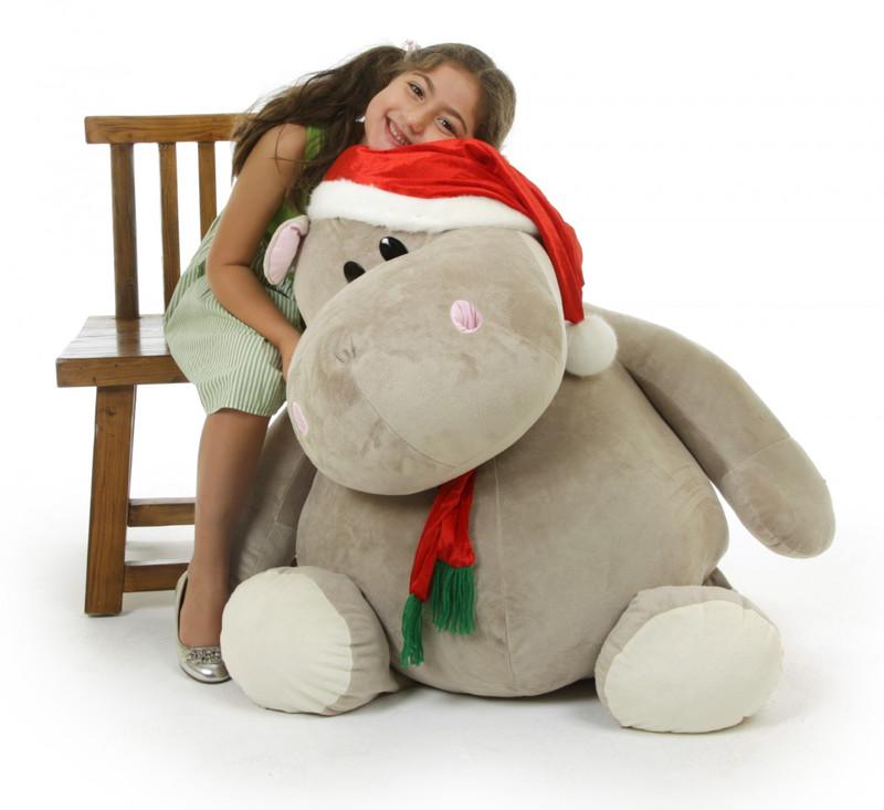Giant Teddy Huggable Kubu Christmas Hippo 43 inch – Who d...