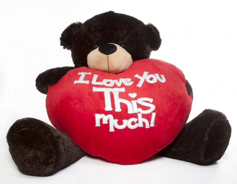 Giant Teddy Brownie Cuddles Valentine's Day Teddy Bear wi...