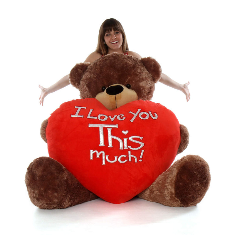 Giant Teddy Sunny Cuddles with World's Largest - I Love Y...