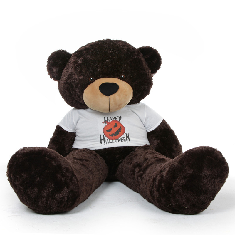 Giant Teddy Brownie Cuddles Halloween Teddy Bear with Hap...