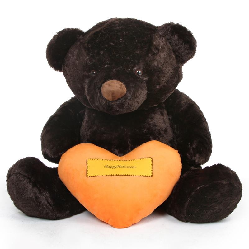 Giant Teddy Munchkin Chubs Halloween Bear with Orange Hap...