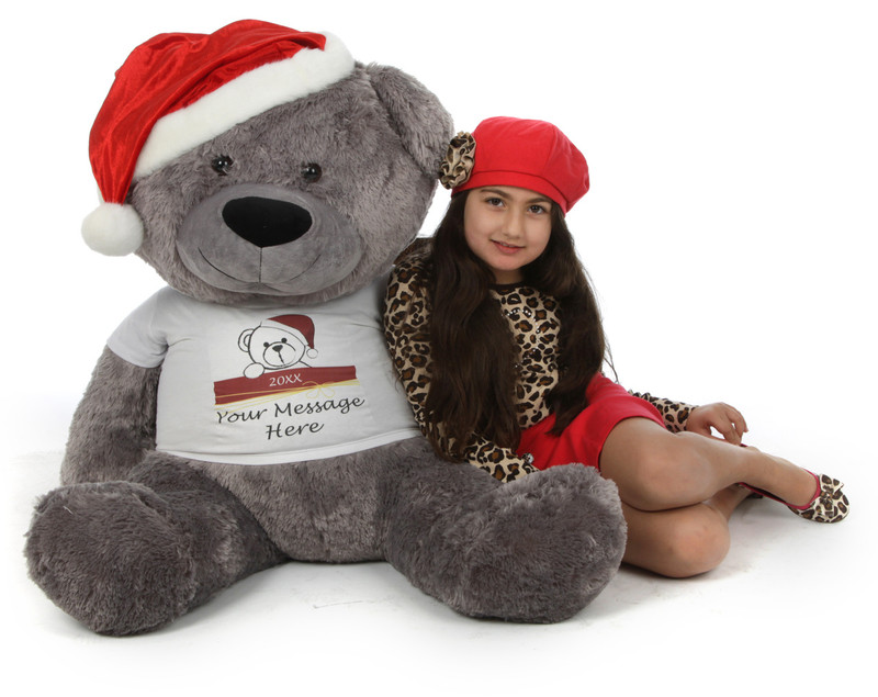 Giant Teddy Huge Personalized Christmas Teddy Bear in a R...