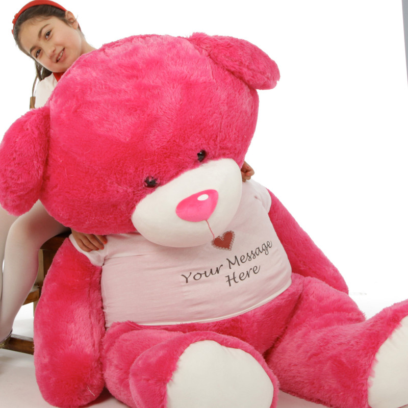 Giant Teddy Giant Personalized Hot Pink Life Size Teddy .