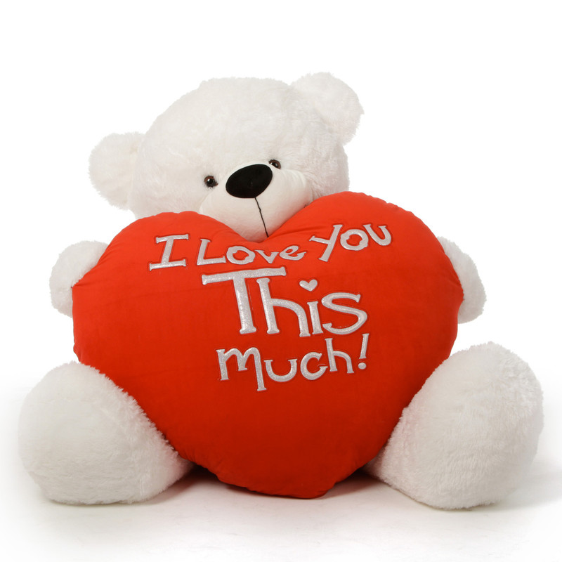 Giant Teddy Huge White Valentine's Day Teddy Bear Coco Cu...