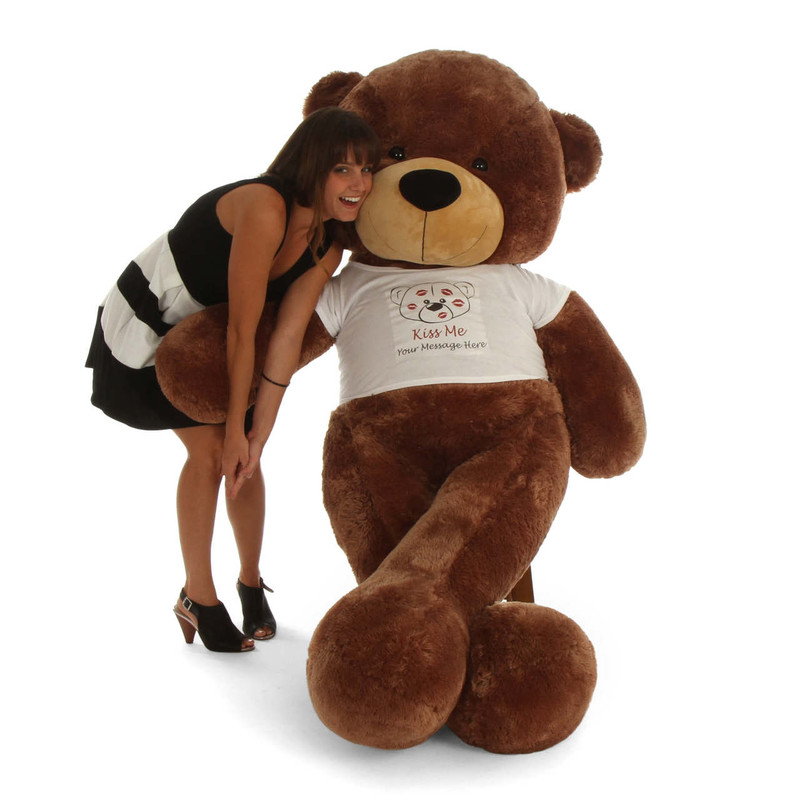 Giant Teddy 6ft Huge Personalized Valentine's Day Teddy B...