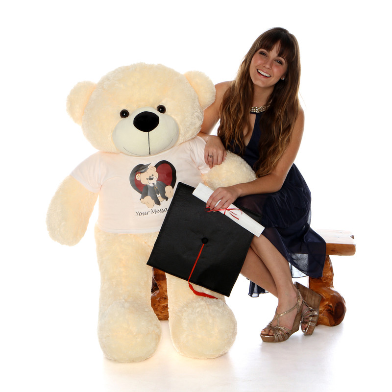 Giant Teddy Life Size 4ft Personalized Graduation Teddy B..