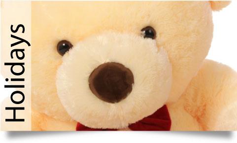 Holiday teddy bears