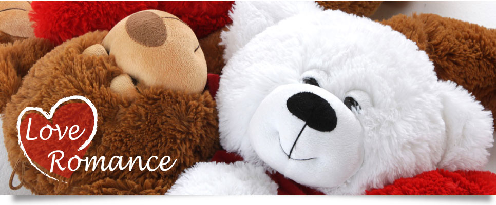 Love and romance teddy bears
