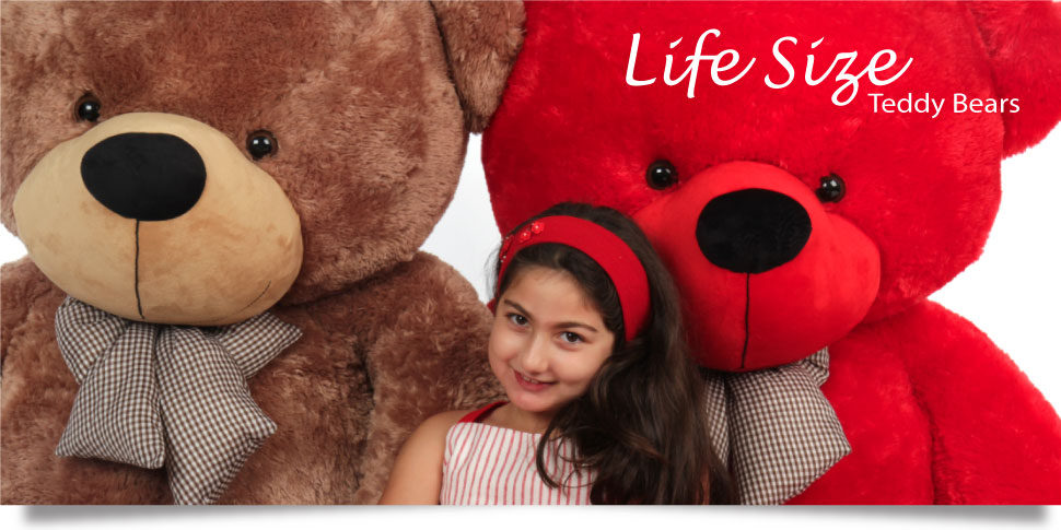 Giant Teddy Bears 2 To 6ft Tall Many Colors Styles