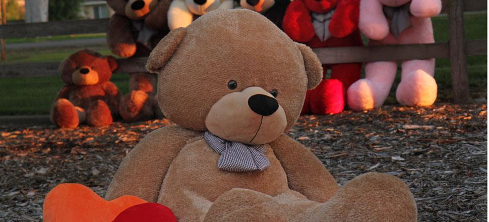 shaggy cuddles 72 life size amber plush teddy bear the biggest