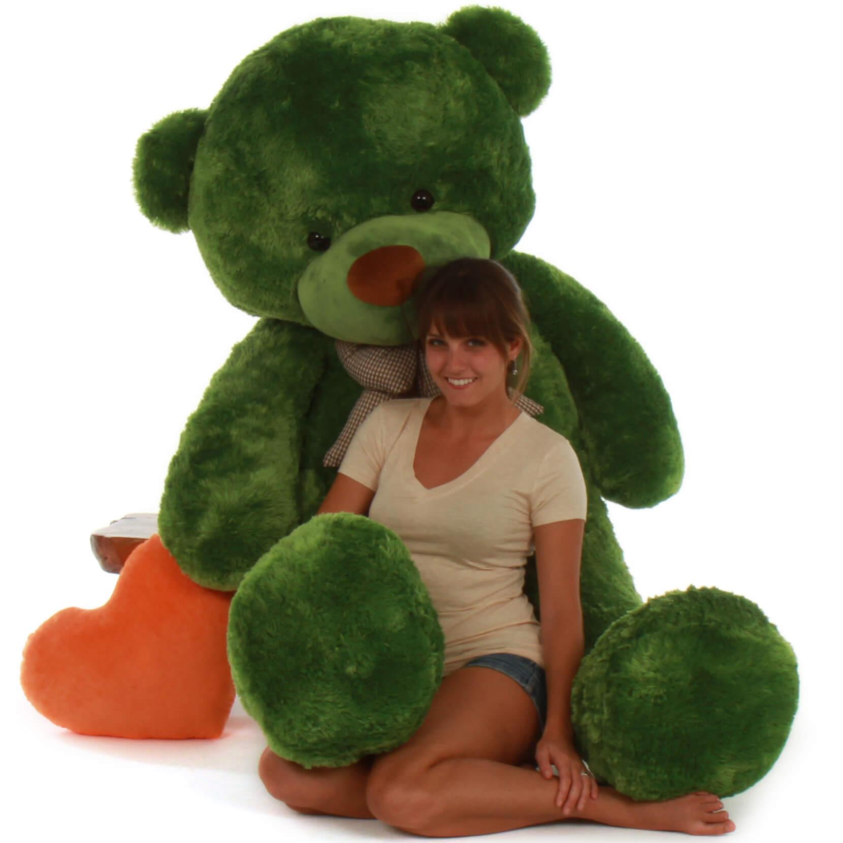 72in Life Size Green Teddy Bear Lucky Cuddles Giant Teddy